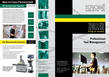 Professional Tool Management - Kromi Logistik AG