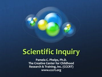 Science And The Standards In An Early Childhood Environment