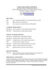 (BABIS) MAINEMELIS Associate Professor of Organizational ...
