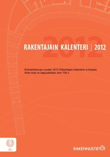 Rakentajain kalenteri 2012 - Rakennustieto Oy