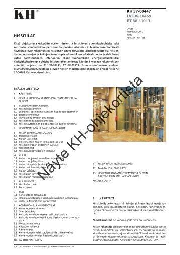 KH 57-00447 Hissitilat.vp - Rakennustieto Oy