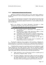 Implementation of Section 4 of the RTI Act, 2005 - CIC