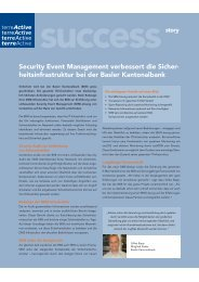 Security Event Management verbessert die Sicher ... - terreActive AG