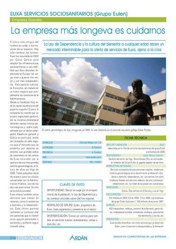 EUXA SERVICIOS SOCIOSANITARIOS, S.L.: Empresa Gacela - Ardan