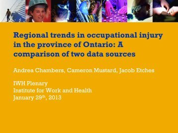 Regional trends in work-related injury and illness, Ontario 2004-2008