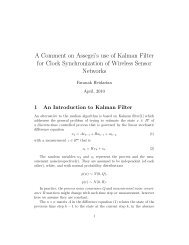 A comment on Assegei's use of Kalman filters for clock synchronization