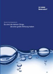 Es sind die kleinen Dinge, die eine große Wirkung haben - Beiersdorf