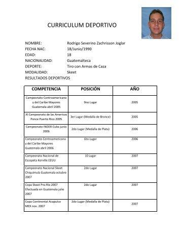 curriculum deportivo - Asociación Deportiva Nacional de Tiro con ...