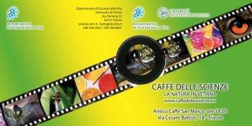 CAFFÈ DELLE SCIENZE - Università degli Studi di  Trieste