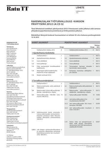 RatuTT-päivitys lokakuu 2012 - Rakennustieto Oy