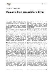 Memorie di un assaggiatore di vini - Amaltea