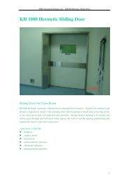 KH 1000 Hermetic Sliding Door - Tecnologistica