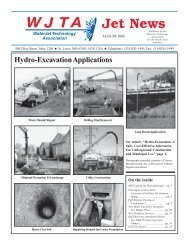 Hydro-Excavation Applications - Waterjet Technology Association