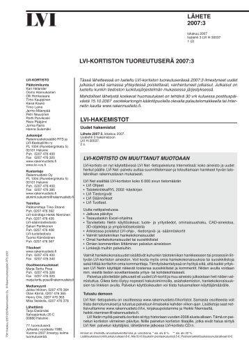 LVI-lahete 2007_3.vp - Rakennustieto Oy