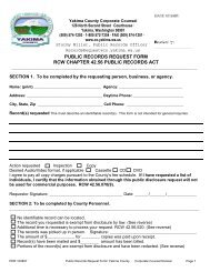 public records request form rcw chapter 42.56 ... - Yakima County