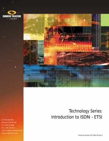 Technology Series: Introduction to ISDN - ETSI - preterhuman.net