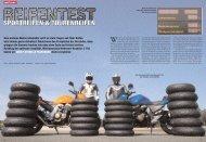 Vergleichstest Sportreifen gegen Tourenreifen, MO Ausgabe 10.2006