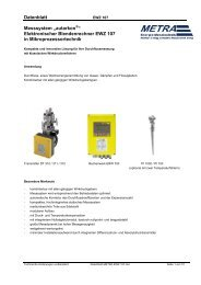 """Datenblatt Messsystem """"autarkon """" Elektronischer ... - METRA Energie"""