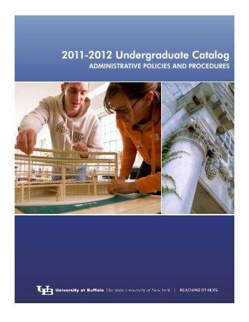 2011-2012 Undergraduate Catalog