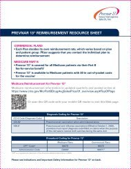 PREVNAR 13® REIMBURSEMENT RESOURCE SHEET - PfizerPro