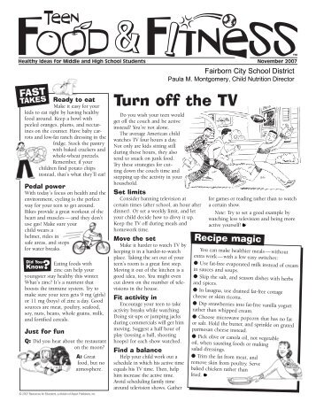 Turn off the TV - Fairborn City Schools