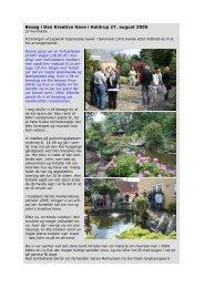 Besøg i Den Kreative Have i Haldrup 27. august 2005