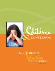 Children and Conversion - Baptist State Convention of North Carolina