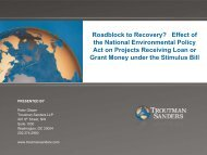 Effect of The National Environmental Policy Act on Projects ...