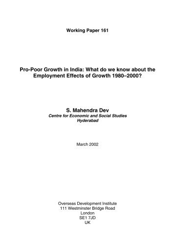 Pro-Poor Growth in India: What do we know about the ... - Amazon S3
