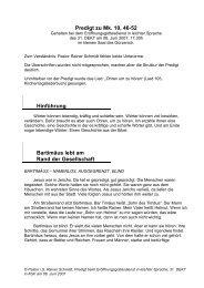 Der blinde Bartimäus - Rainer Schmidt