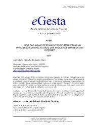 Revista eletrônica de Gestão de Negócios v. 6, n. 3, jul ... - Unisantos