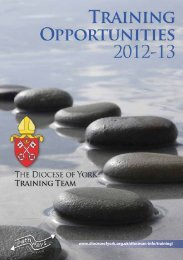 Training Opportunities 2013 - Diocese of York