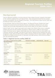 Regional Tourism Profiles 2009/2010 Background - Eurobodalla