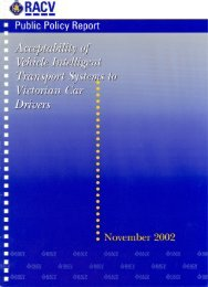 Acceptability of in-vehicle intelligent transport systems to Victorian ...