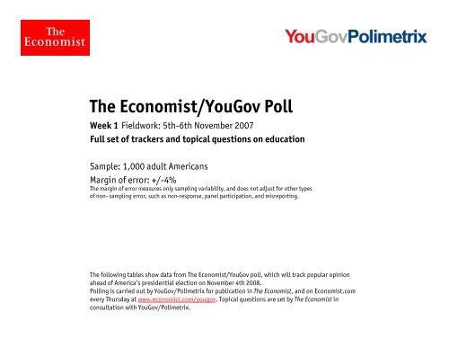 The Economist/Yougov Poll