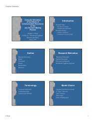 Introduction Outline Research Motivation Terminology Model Choice