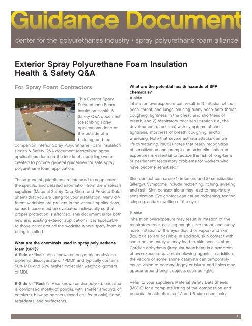 Exterior Spray Polyurethane Foam Insulation     - SprayFoam com