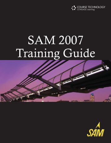 SAM 2007 Training Guide