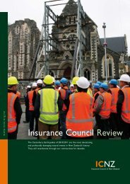 Annual review 2010 - Insurance Council of New Zealand