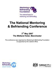 Improving Vetting Procedures - Scottish Mentoring Network