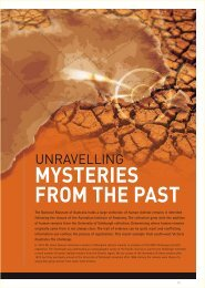 Unravelling mysteries from the past (PDF 163kb) - National Museum ...