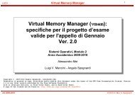Virtual Memory Manager (vmem): specifiche per ... - Didamatica 2010