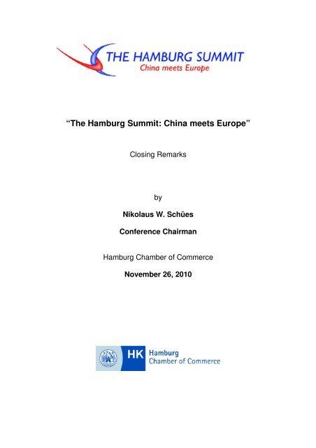 November 26, 2010 - Hamburg Summit