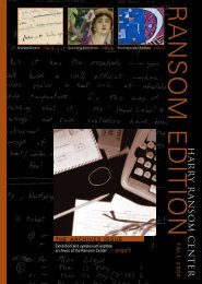 Download PDF Version - Harry Ransom Center - The University of ...