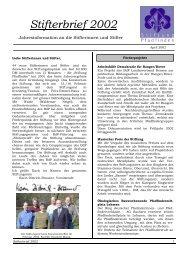 Stifterbrief 2002 - Stiftung Pfadfinden