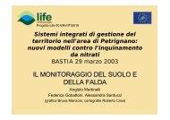 I sistemi di monitoraggio della falda e del suolo (File ... - ARPA Umbria
