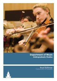 Department of Music - Royal Holloway, University of London
