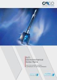 ALS - Electromechanical Screw Rams - Pfaff-silberblau