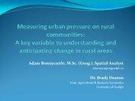 Measuring Urban Pressure on Rural Communities - University of ...