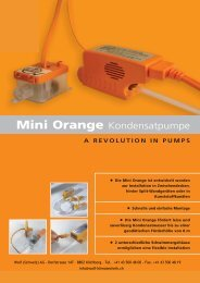Prospekt Mini Orange Kondensatpumpe - Wolf (Schweiz) AG